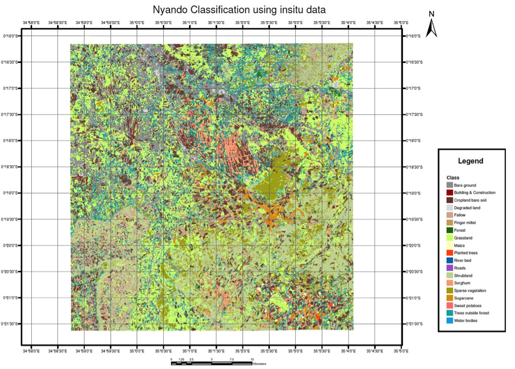 Fig. 2.7 LULC map of Nyando from WorldView-2® VHR imagery, using an object-based classification approach